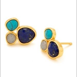 Gorjana Lola Gemstone Cluster Earrings